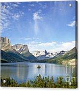 St. Mary Lake And Wild Goose Island Acrylic Print