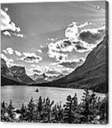 St. Mary Lake Bw Acrylic Print