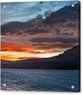 St. Mary Lake Dawn 1 Acrylic Print
