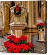 St. Mary Of The Angels Christmas Lectern Acrylic Print