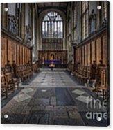 St Mary The Virgin Church - Choir And Altar Acrylic Print