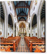 St Mary's Catholic Church - The Nave Acrylic Print