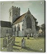 St Marys Church Dinton And Churchyard Acrylic Print