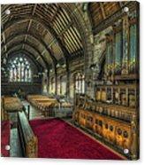 St Marys Church Organ Acrylic Print