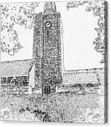 St Marys Church Tenby Acrylic Print