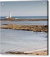 St Marys Lighthouse Across Sandy Bay Acrylic Print