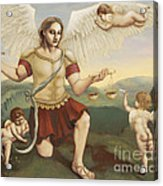 St. Michael The Archangel Acrylic Print by Shelley Irish