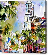 St Michael's Church Charleston South Carolina Acrylic Print by Ginette Callaway