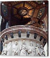 St Nicholas Church Pulpit In Amsterdam Acrylic Print