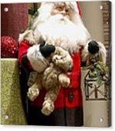 St Nick Teddy Bear Acrylic Print
