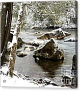 St Patricks Day Cranberry River Acrylic Print
