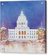 St. Paul Capitol Winter Acrylic Print