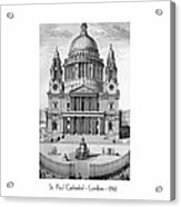 St. Paul Cathedral - London - 1792 Acrylic Print