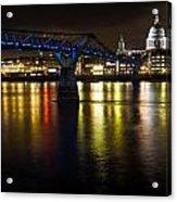 St Pauls And Millenium Bridge Acrylic Print