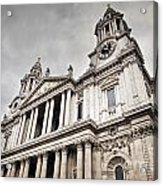 St Pauls Cathedral In London Uk Acrylic Print