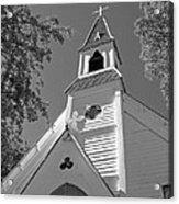 St. Paul's Church Port Townsend In B W Acrylic Print