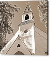 St. Paul's Church Port Townsend In Sepia Acrylic Print