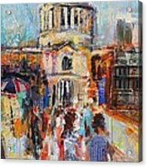 St Paul's From The Millennium Bridge Acrylic Print
