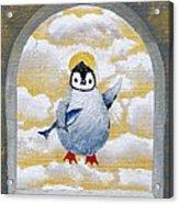 St Penguin Bringer Of Fish Acrylic Print