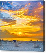 St. Pete Beach Sunset Acrylic Print