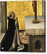 St. Peter Martyr In Prayer Acrylic Print