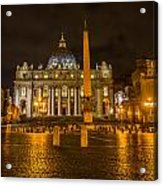 St Peters Bascilica Acrylic Print