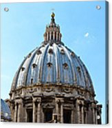 St Peters Basilica Dome Vatican City Italy Acrylic Print