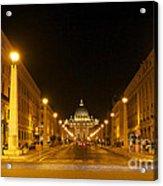 St. Peter's Basilica. Via Della Conziliazione. Rome Acrylic Print by Bernard Jaubert