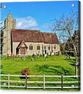 St Peters Church In Minsterworth Acrylic Print by Paula J James