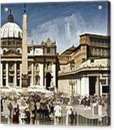 St Peters Square - Vatican Acrylic Print by Jon Berghoff
