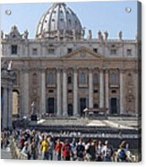 St. Peters - Vatican - Rome Acrylic Print