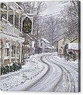 St Peters Village Snow 3 Acrylic Print