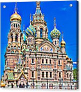 St Petersburg Church Acrylic Print