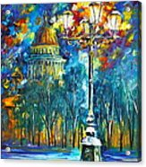 St. Petersburg New Acrylic Print by Leonid Afremov