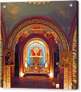 St Photios Greek Shrine Acrylic Print by Elizabeth Hoskinson