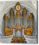St Roch Organ In Paris Acrylic Print