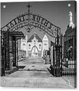 St Roch's Cemetery Bw Acrylic Print