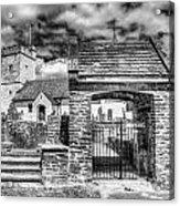 St Sannans Church Bedwellty 4 Mono Acrylic Print