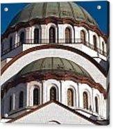 St Sava Temple Acrylic Print