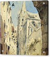 St. Severin Paris Acrylic Print by James Holland