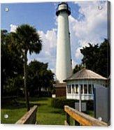 St. Simon's Island Georgia Lighthouse Painted Acrylic Print