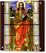 St. Stan's Stained Glass Acrylic Print