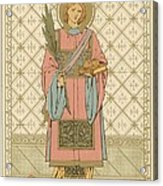 St Stephen Acrylic Print by English School