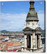 St Stephen's Basilica Bell Tower In Budapest Acrylic Print
