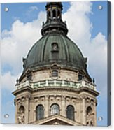 St. Stephen's Basilica Dome In Budapest Acrylic Print