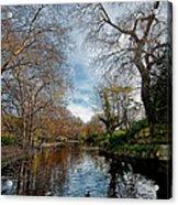St. Stephens Green Trees Acrylic Print