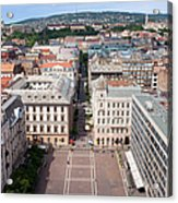 St Stephen's Square In Budapest Acrylic Print