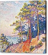 St Tropez The Custom's Path Acrylic Print by Paul Signac