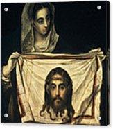 St Veronica With The Holy Shroud Acrylic Print