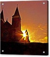 St Vincent Basilica At Sunset Acrylic Print